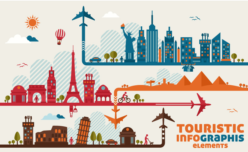 Touristic Infographics Elements Vector | Free Vector Graphic Download