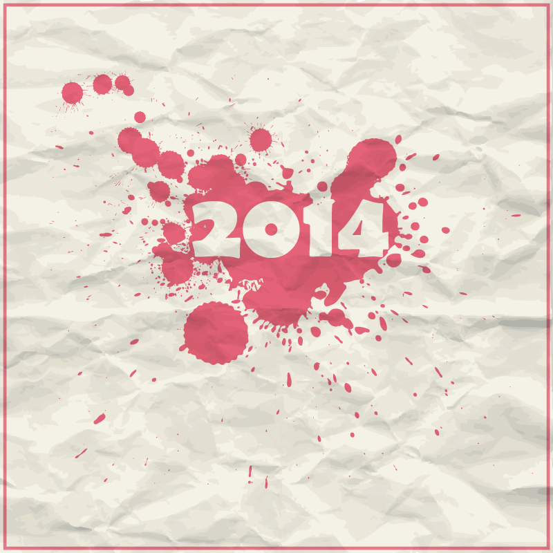 2014 Fold Paper Ink Vector