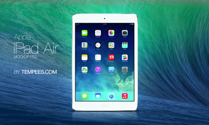 Apple iPad Air PSD