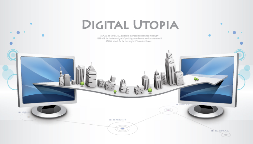 Business Digital Utopia Vector