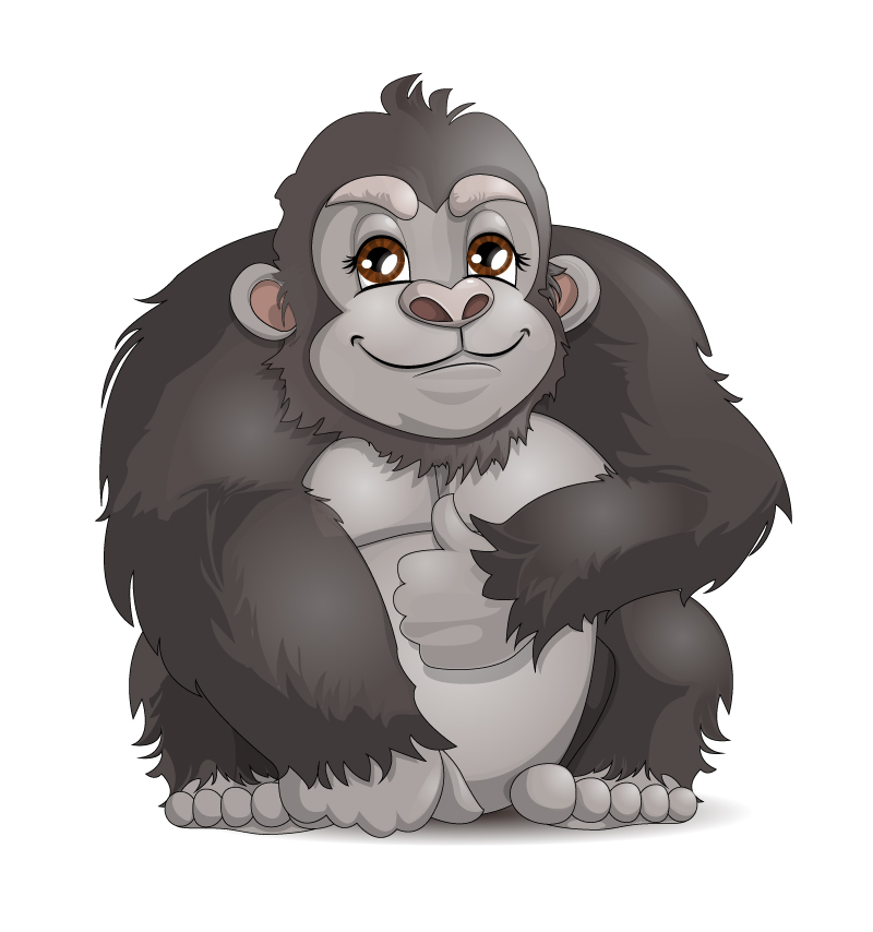 Cartoon Chimpanzee Vector