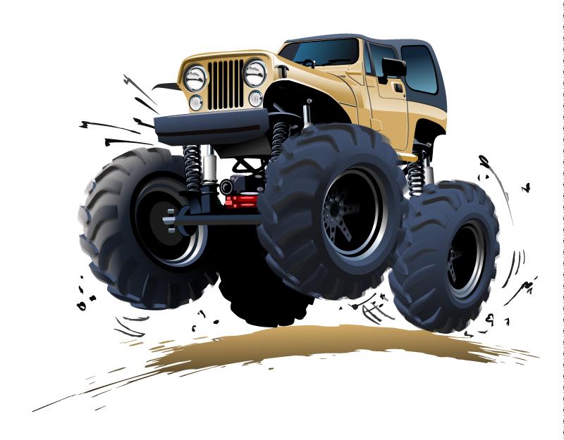 Cartoon Monster Truck Vector | Free Vector Graphic Download