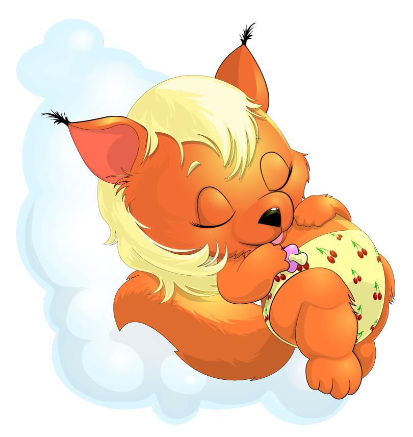 Cartoon Yellow Puppy Sleeping Vector