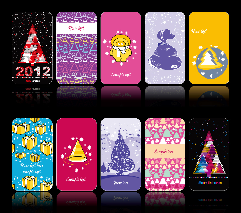 Christmas Phone Shell Design Vector