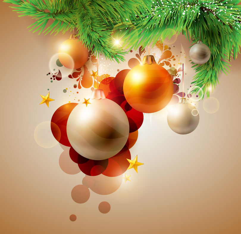 Christmas Pine Ball Vector