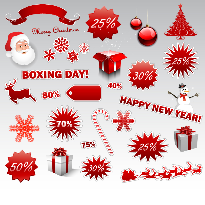 Christmas Promotion Element Vector