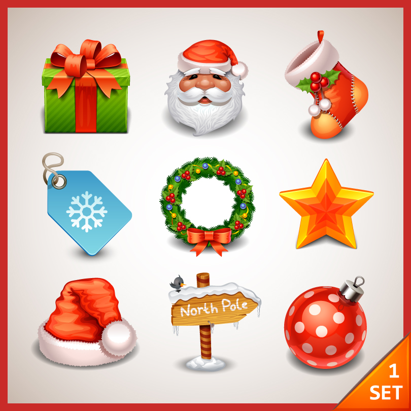 Christmas Santa Claus Elements Vector