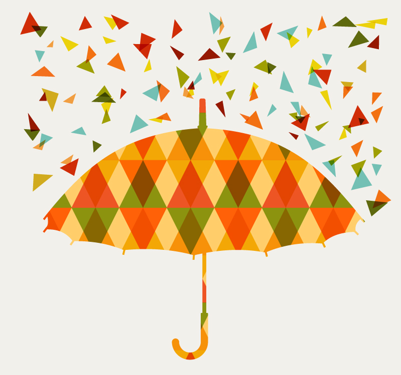 Colorful Triangle Umbrella Vector