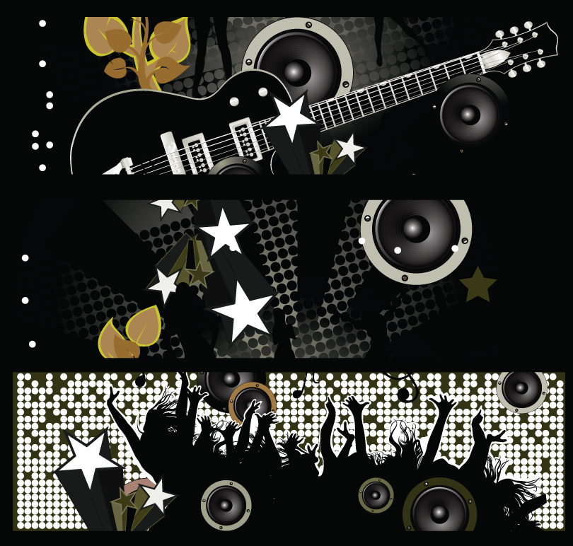 Cool Music Dance Banner Vector