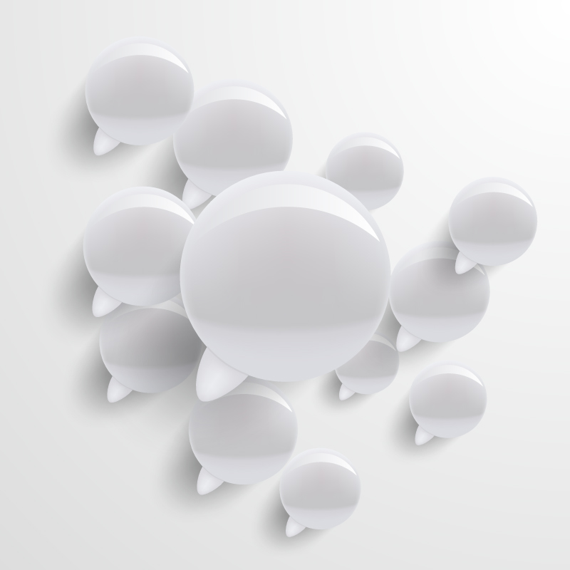 Crystal Texture Speech Bubbles Vector