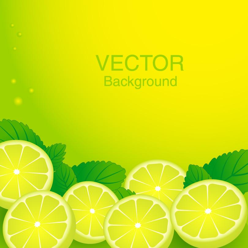 Delicious Lemon Background Vector