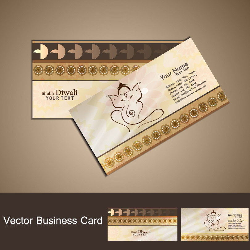 Diwali Business Card Vector