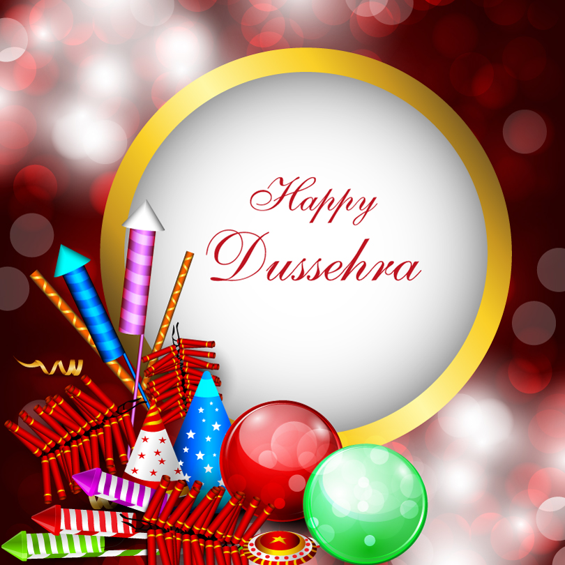 Dussehra Firecrackers Ball Vector