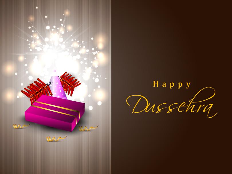 Dussehra Firecrackers Gift Vector