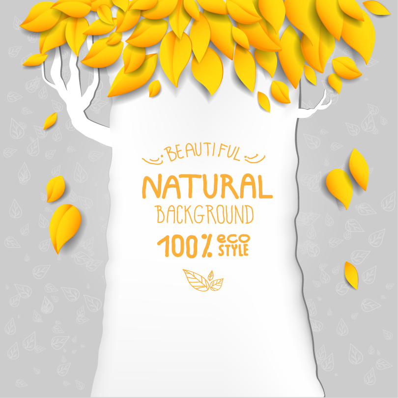 ECO Beautiful Natural Background Vector