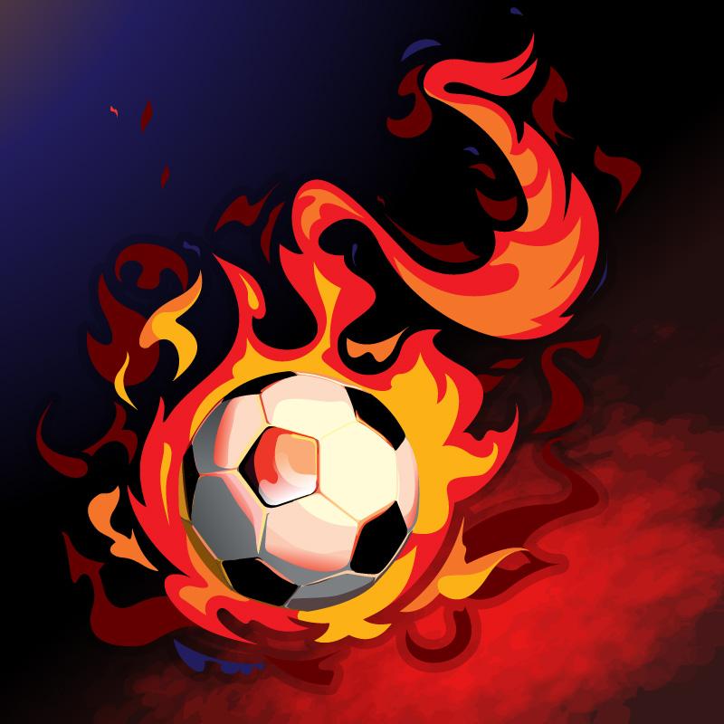 Fiery Soccer Vector