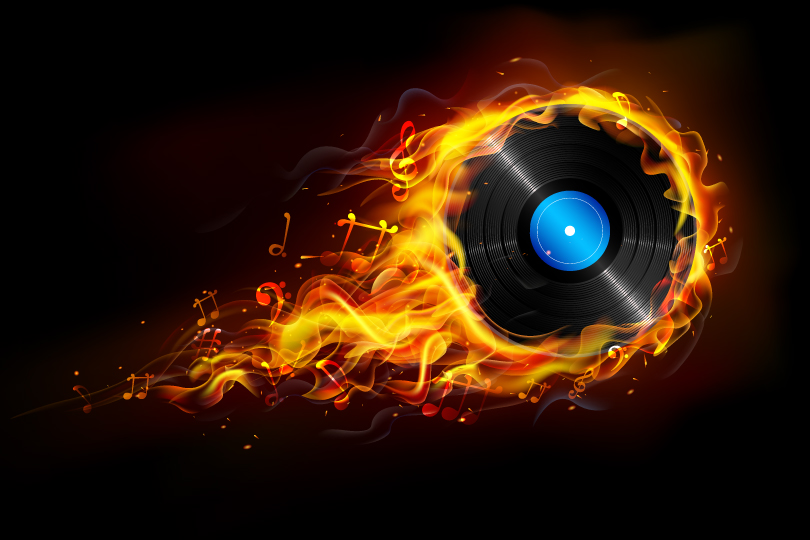 Flame Lp Vector Free Vector Graphic Download
