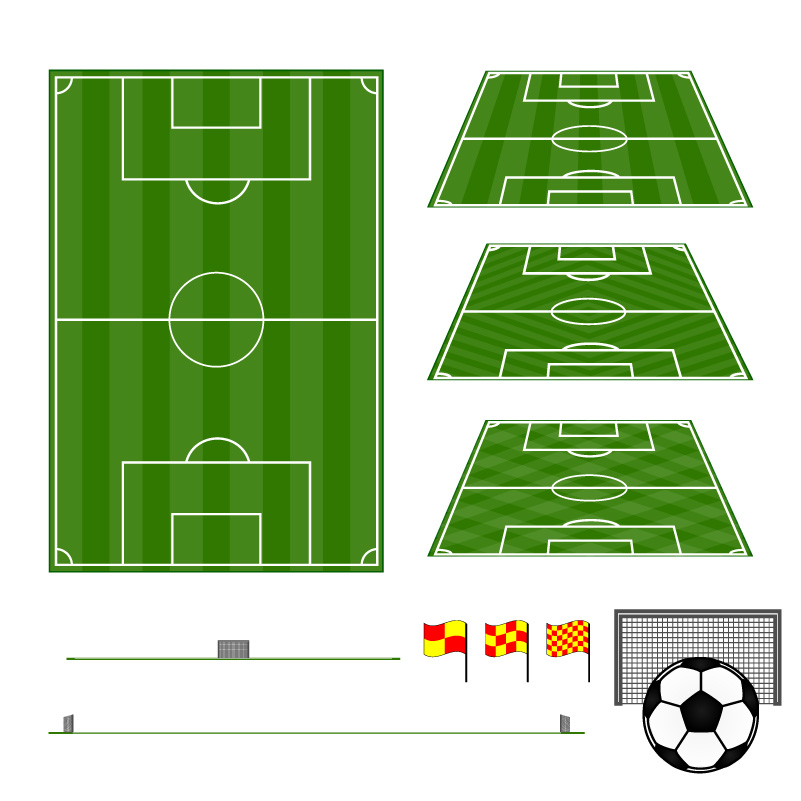 Football Field Design Vector