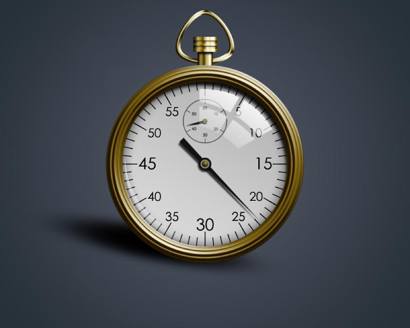 Gold Stopwatch PSD