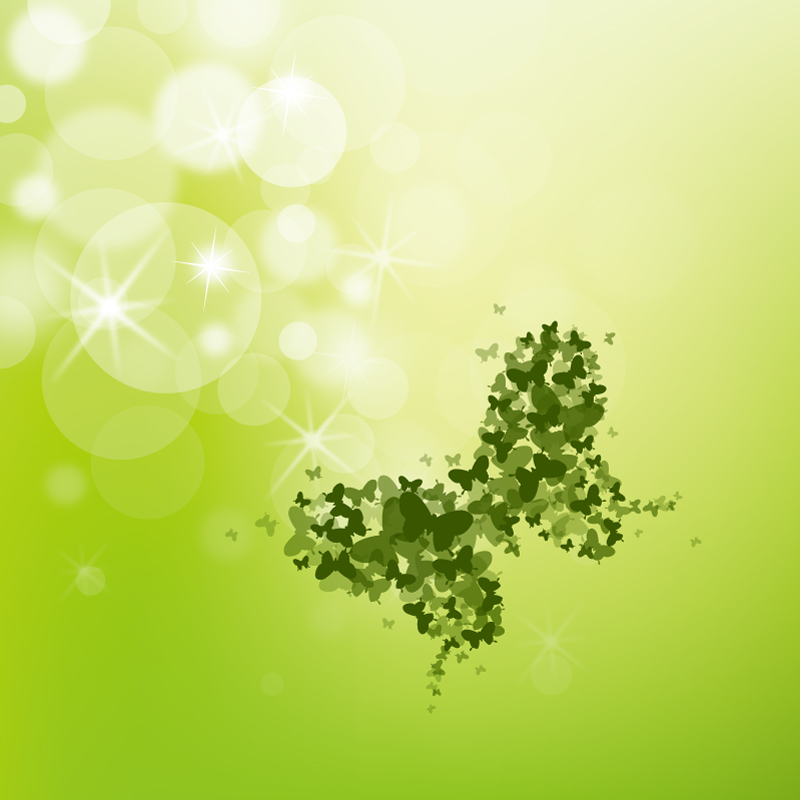 Green Butterfly Illustration Vector
