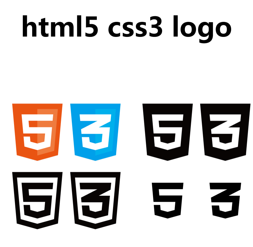 html5 css3 logo vector free vector graphic download