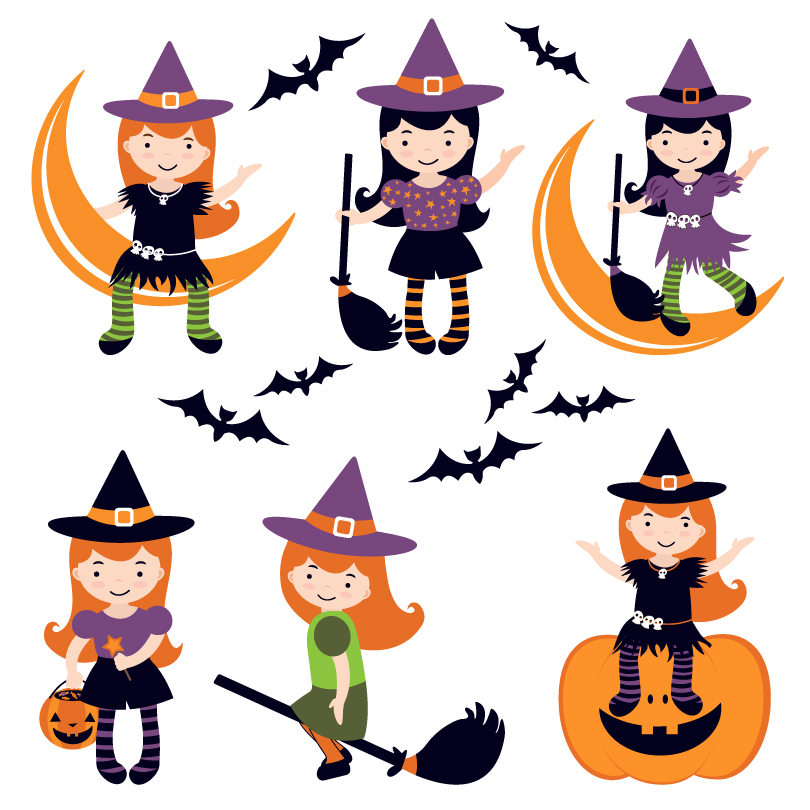 Halloween Little Witch Vector