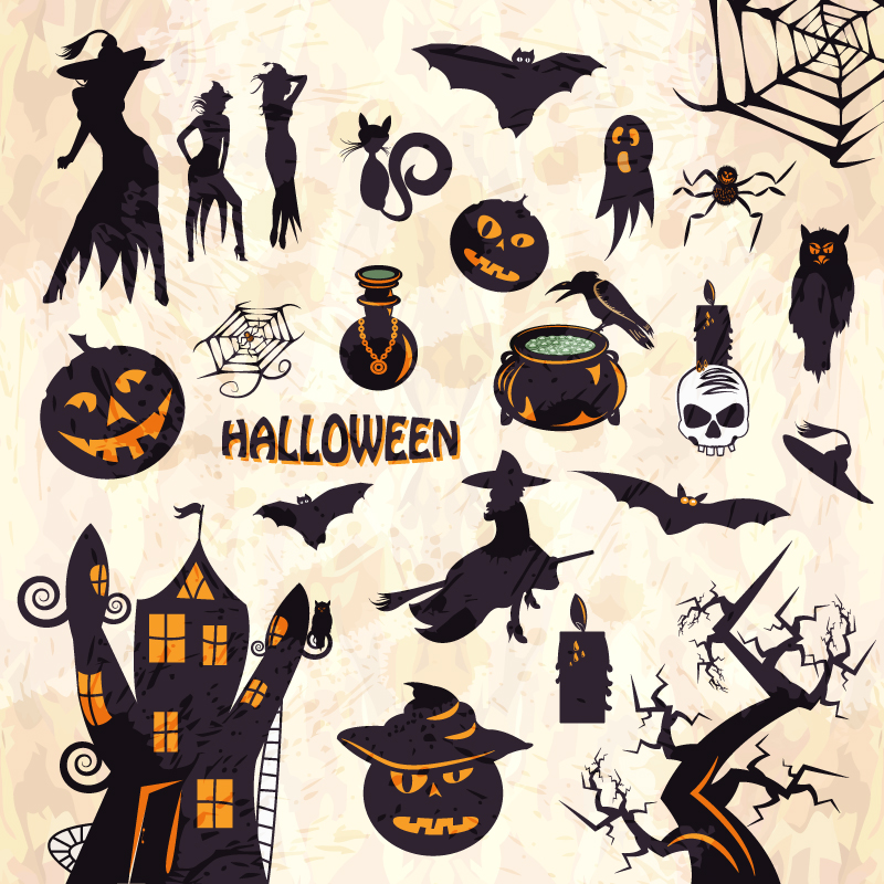 Halloween Monster Sticker Vector