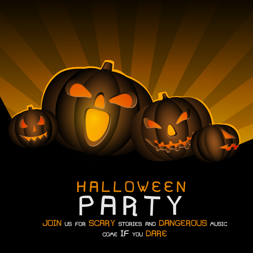 Halloween Party Colorful Background Vector