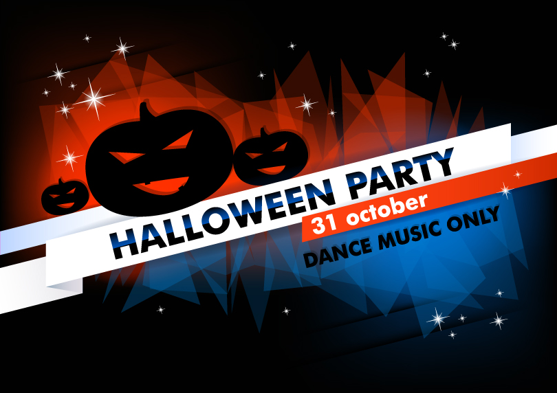 Halloween Party Dance Music Only Vector