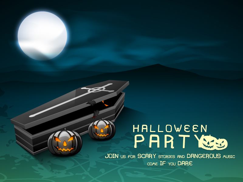 Halloween Party Moonlight Vector