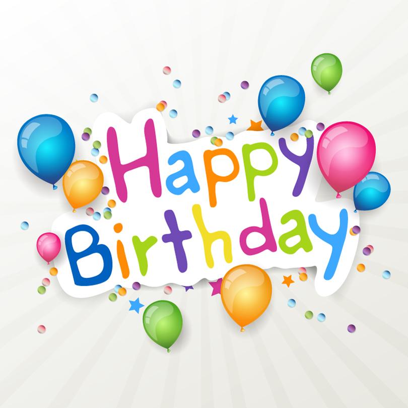 Happy Birthday Color Balloon Vector