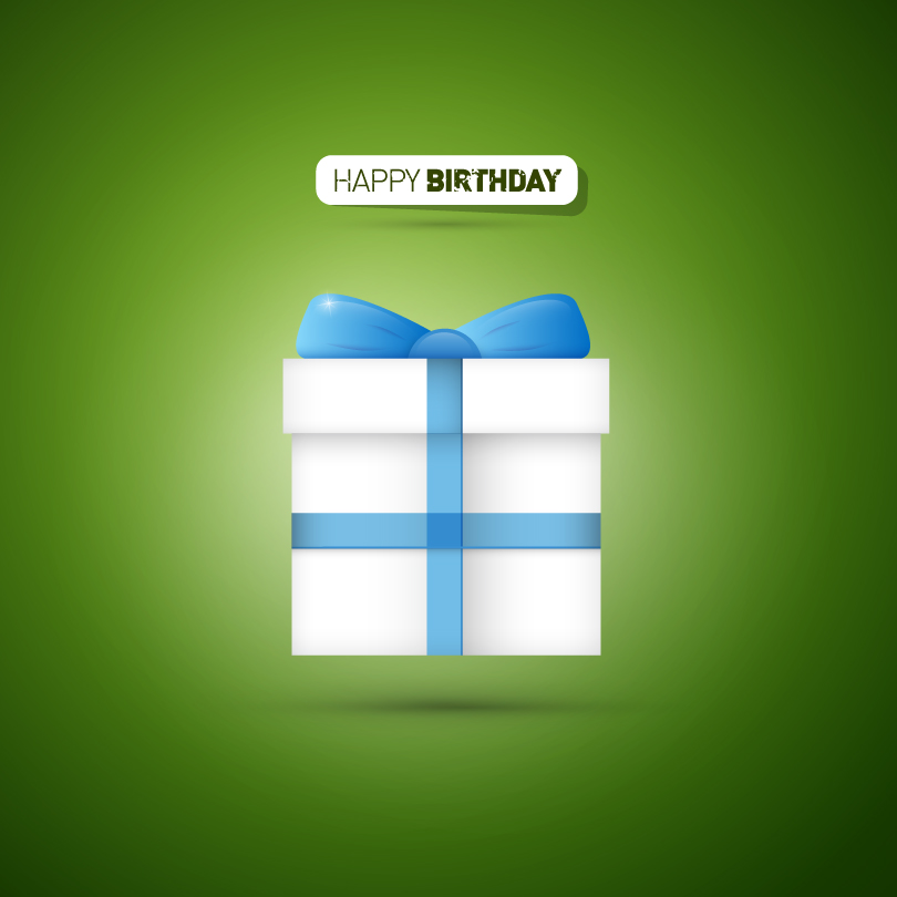 Happy Birthday Gift Vector