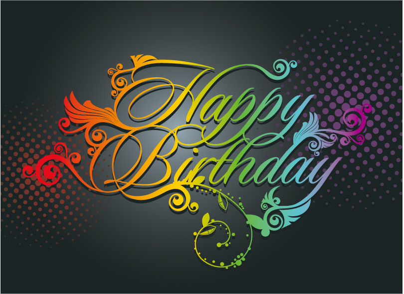 Happy Birthday Letters Pattern Vector