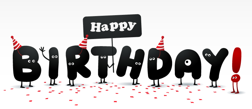 Happy Birthday Letters With Eyes Vector
