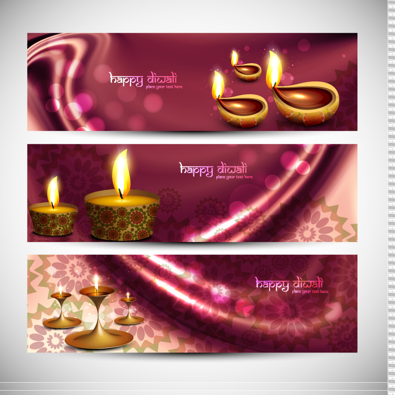 Happy Diwali Banner Vector