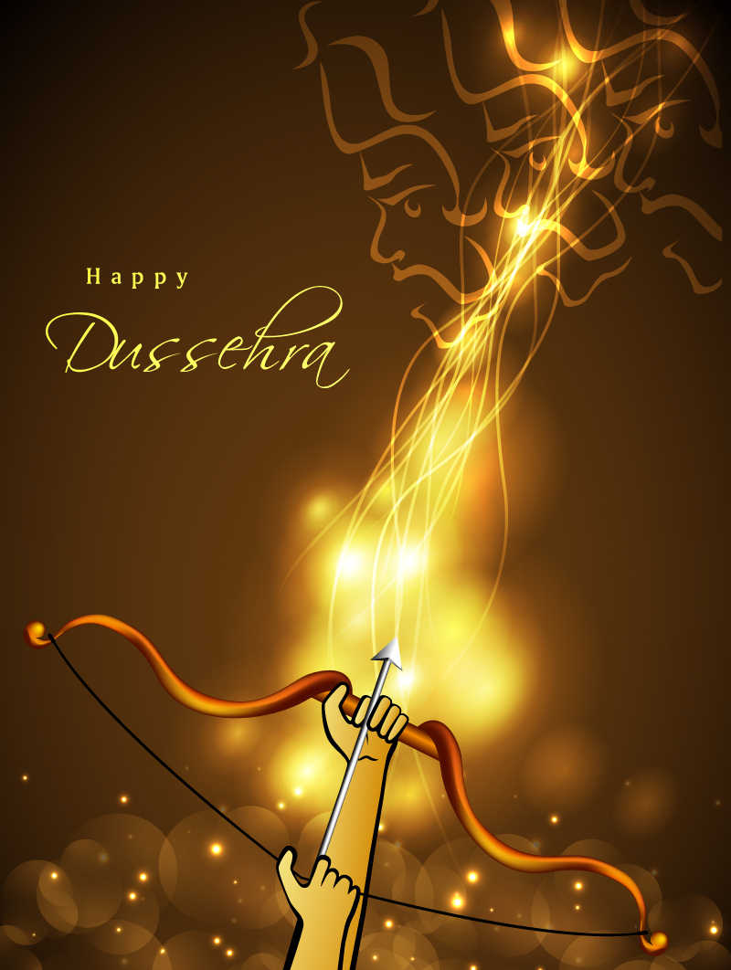 Happy Dussehra Archery Vector