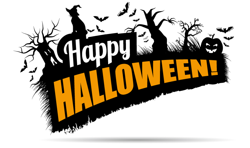 Happy Halloween Bulletin Board Vector