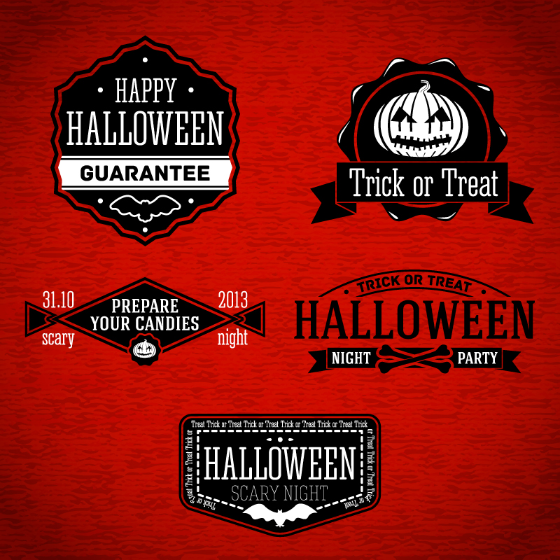 Happy Halloween Guarantee Sticker Vector