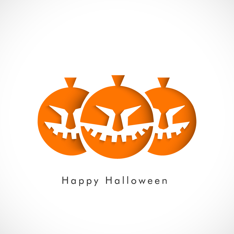 Happy Halloween Pumpkin Smile Vector