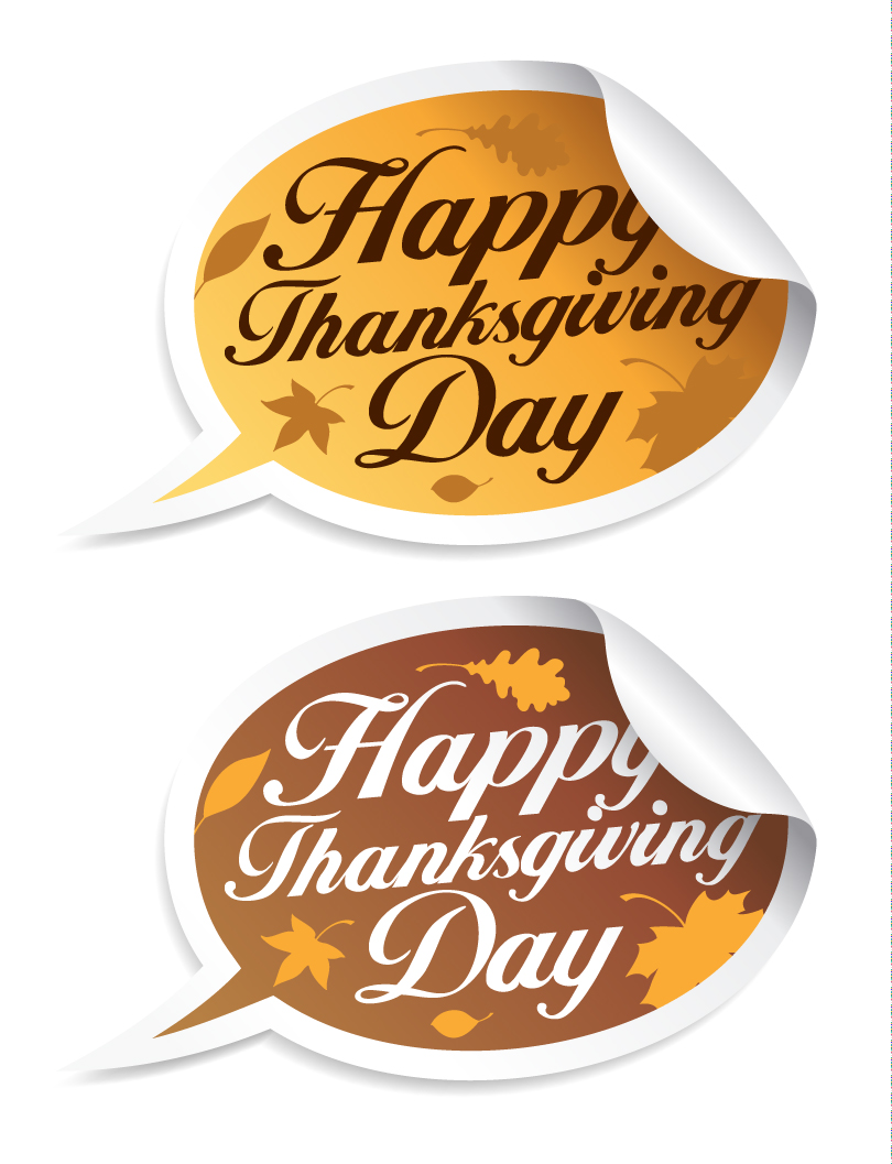 Happy Thanksgiving Day Dialog Vector