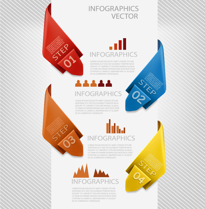 Infographics Step Number Vector