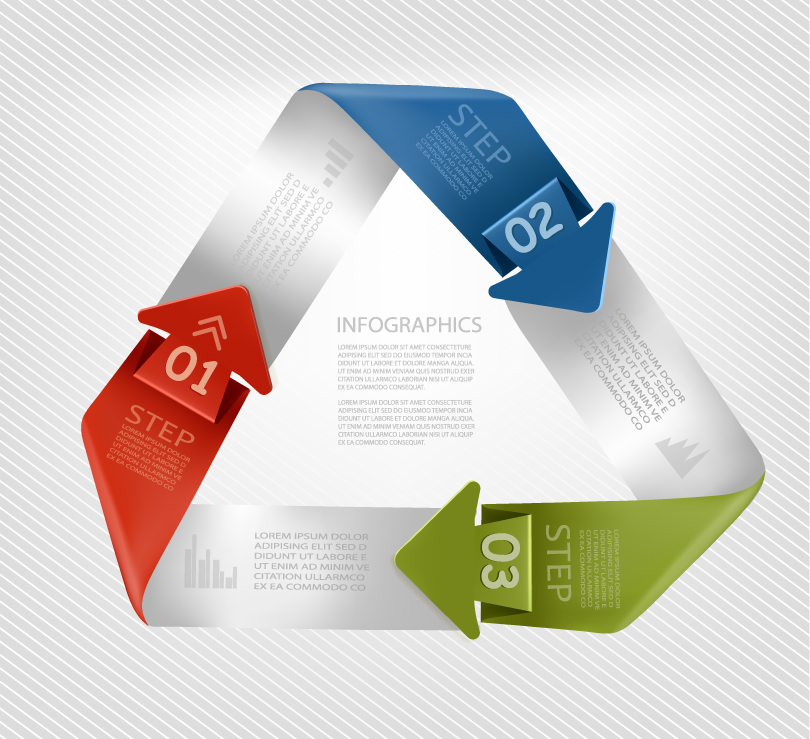 Infographics Step Triangle Vector