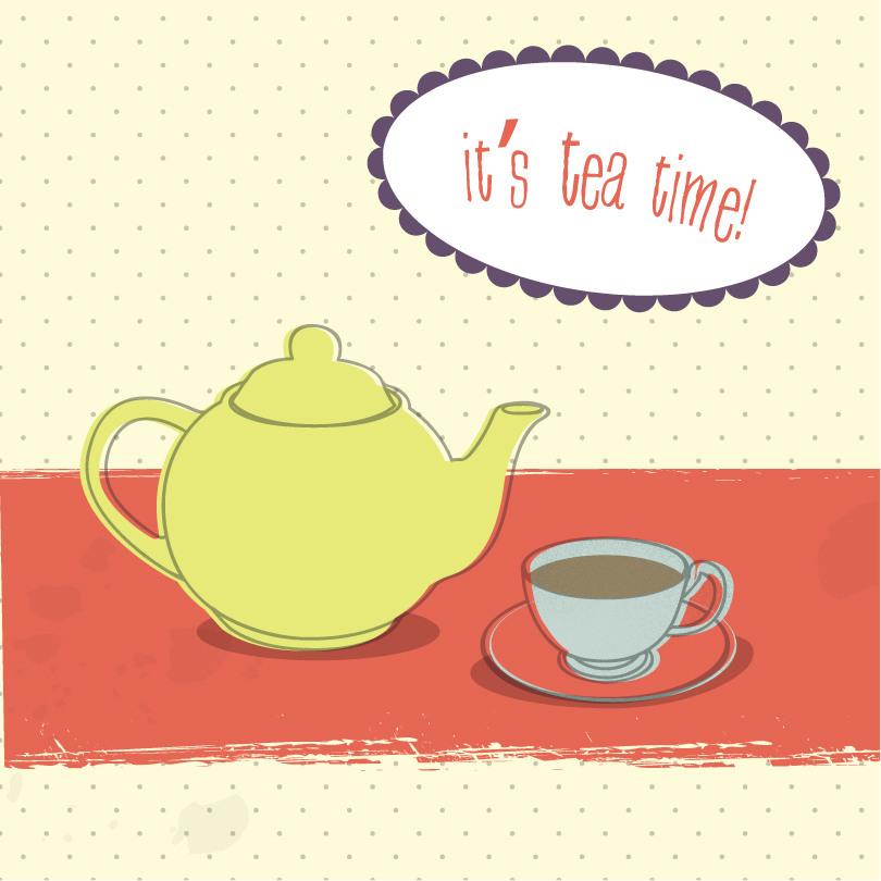 It's Tea Time Vector