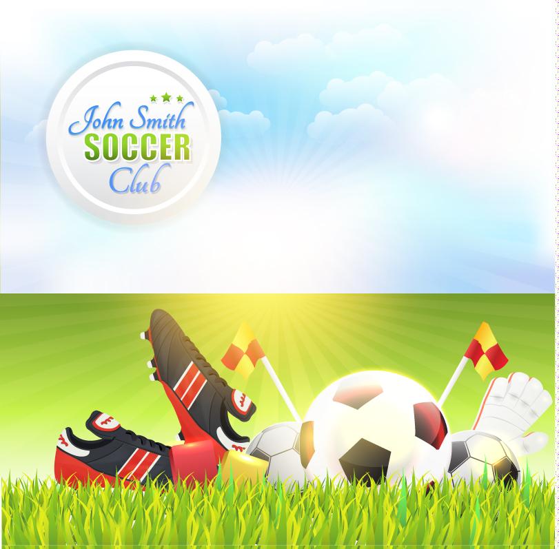 John Smith Soccer Club Vector