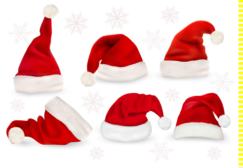 Many Christmas Hats Vector