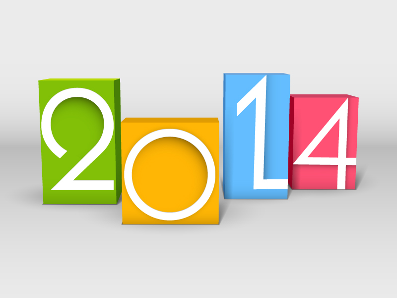 New Year 2014 Box Design Vector