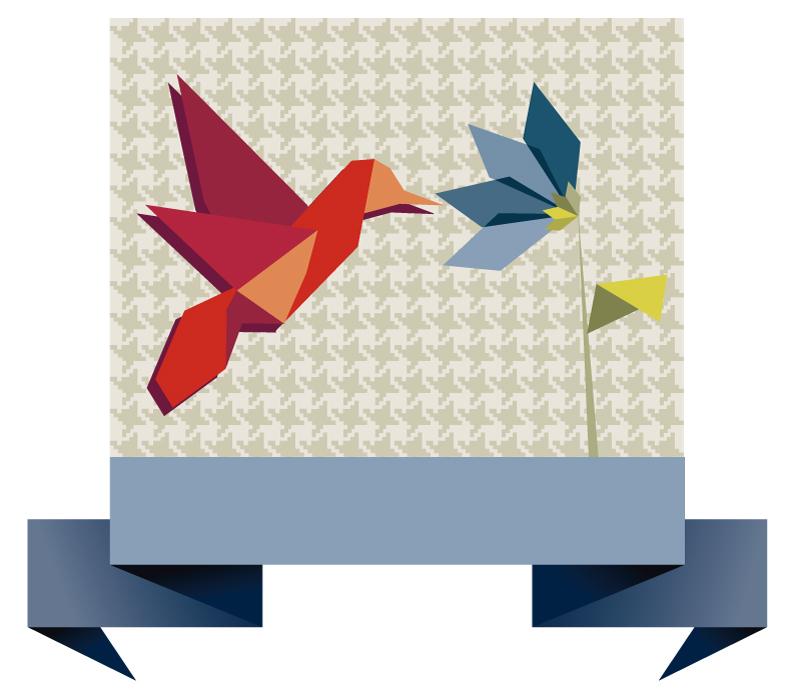 Origami Paper Cranes Vector