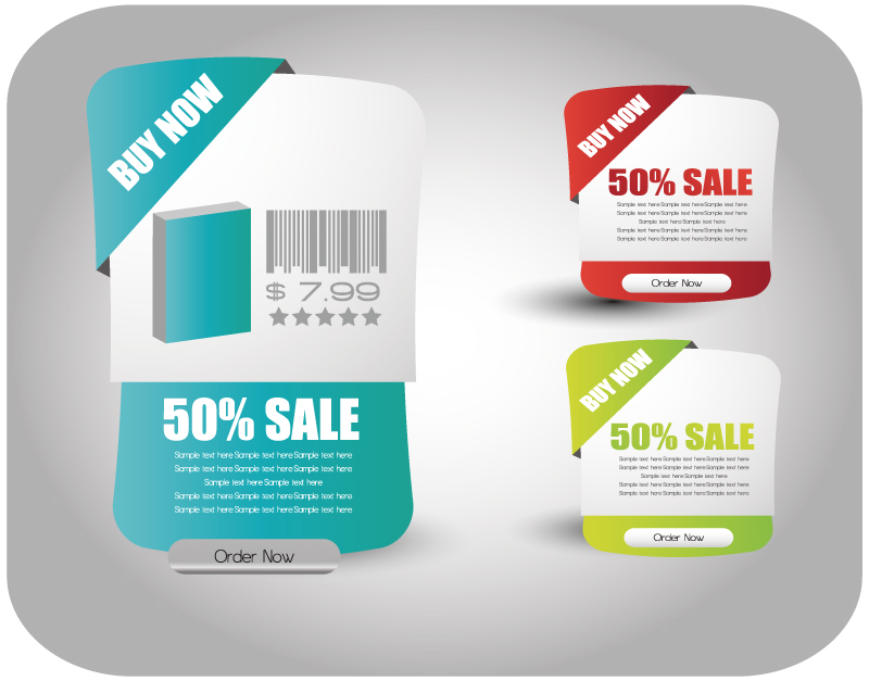 Promotional Labels Vector