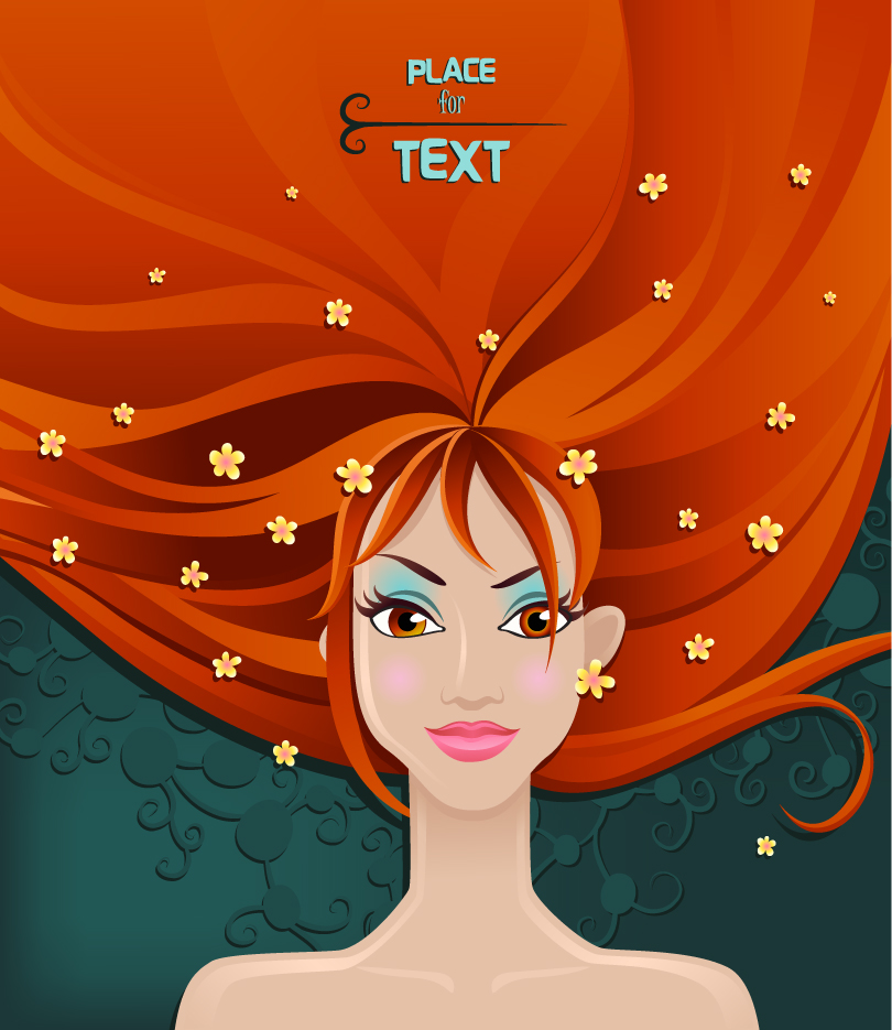 Red-haired Beauty Vector