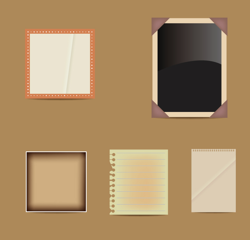 Retro Scrapbook Elements Vector